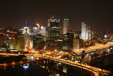 Pittsburgh's Skyline at Night Photographic Print by  Zigi