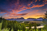 Summer Sunset at Snake River Overlook Photographic Print by Dean Fikar