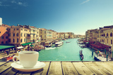 Coffee on Table and Venice in Sunset Time, Italy Photographic Print by Iakov Kalinin