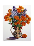Orange Chrysanthemums Giclee Print by Christopher Ryland