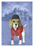 Beagle with Beaulieu Palace Poster by  Barruf