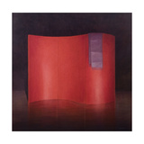Curving Red Lacquer Screen Giclee Print by Lincoln Seligman