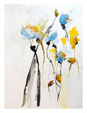 Blue Flowers II Poster by Karin Johannesson