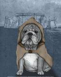 English Bulldog with Stonehenge Posters par  Barruf