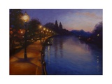 Twickenham Lights 2013 Giclee Print by Lee Campbell