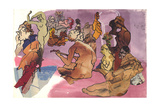 The Turkish Bath after Ingres, 1960s Giclee Print by Hugh Bulley