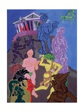 Trygaeus Returning to Athens with Peace and Her Attendants, 1985 Giclee Print by Hugh Bulley