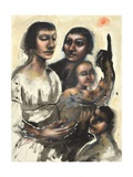 Virgin and Child, St Anne and St John the Baptist, 2013 Giclee Print by Chris Gollon