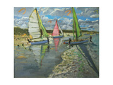 Three Sailboats, Bray Dunes, France Giclee Print by Andrew Macara