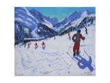 The Ski Instructor, Mottaret Giclee Print by Andrew Macara