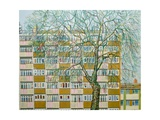 Canning Town Winter Giclee Print by Noel Paine