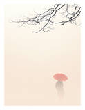 In Autumn Fog Print by Nicholas Bell