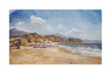 Beach and Mountains, Nerja, 2001 Giclee Print by Christopher Glanville