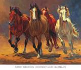 Hoofbeats and Heartbeats Prints by Nancy Davidson