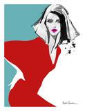 Red Dress Poster by Aasha Ramdeen