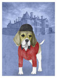 Beagle with Beaulieu Palace Print by  Barruf