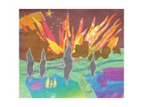 The Aurora Borealis as Portent, Plate 10 from 'A Boy at Sea' Giclee Print by Hugh Bulley