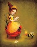 Queen Bee Reads a Love Letter Art by  Meluseena