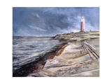 The Cocksdorp Lighthouse, Texel, Netherlands, 2003 Giclee Print by John Erskine