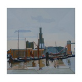 Wapping, Thames, 2012 Giclee Print by Piers Ottey