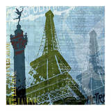 Paris (French Blue) Posters par Maura Allen