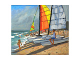 Sailboats, Garrucha, Spain Giclee Print by Andrew Macara