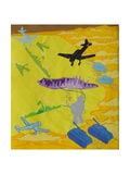 Bombs from the Sky, Plate 31 from 'A Boy at Sea' Giclee Print by Hugh Bulley
