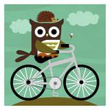 Nancy Lee - Owl and Hedgehog on Bicycle Obrazy