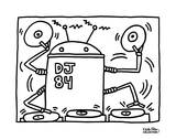 DJ 84, 1983 Poster by Keith Haring