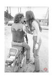 Woodstock- Michael Lang Motorcycle (Black and White) Print by  Epic Rights