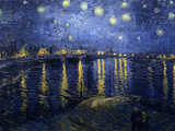 Starry Night over the Rhone Poster by Vincent van Gogh