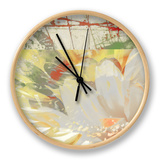 White Wonders II Clock by Ricki Mountain