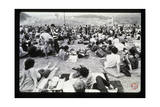 Woodstock- Onlookers (Black and White) Poster von  Epic Rights