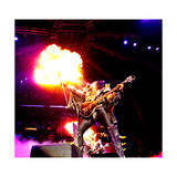 KISS - 40th Anniversary Tour Live - Gene Simmons Demon Spitting Fire Photo af Epic Rights