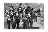 KISS - Group Early Years (Black and White) 1974 Photo af Epic Rights