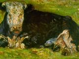 Lying Cow Prints by Vincent van Gogh