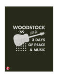Woodstock- Guitar Poster Poster von  Epic Rights