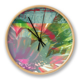 Pink Wonders I Clock by Ricki Mountain