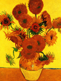 Still Life Vase with Fifteen Sunflowers 3 Prints by Vincent van Gogh