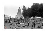 Woodstock- Campsite (Black and White) Photo by  Epic Rights