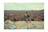 Woodstock- From Behind the Drums and Into the Crowd Print by  Epic Rights