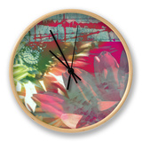 Pink Wonders II Clock by Ricki Mountain