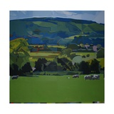 Burpham Sheep, 2009 Giclee Print by Piers Ottey
