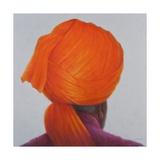 Saffron Turban, 2014 Giclee Print by Lincoln Seligman