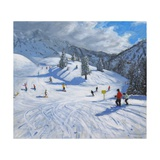 Skiing,Kitzbhuel, 2014 Giclee Print by Andrew Macara