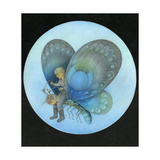 The Blue Butterfly Giclee Print by Wayne Anderson
