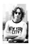 John Lennon - New York Shirt 1974 (Black and White) Photo by  Epic Rights