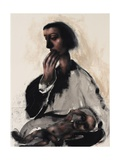 Study for Virgin and Child, 2013 Giclee Print by Chris Gollon
