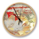 White Wonders I Clock by Ricki Mountain
