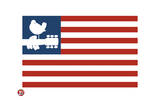 Woodstock- Love Dove Logo American Flag Póster por Epic Rights